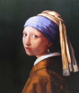 Girl with a Pearl Earring (after J Vermeer 1665)